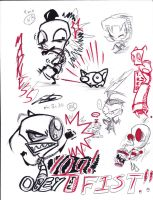 More Invader Zim sketches by Sapphire4723