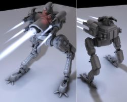 Crab Mech NoTextures 2 Views by eRe4s3r