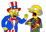 Uncle Sam and the Kaiser by NeroUrsus