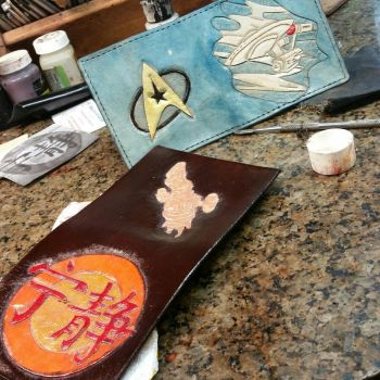 STAR TREK AND FIREFLY SERENITY WALLET S by WorldofLeathercraft