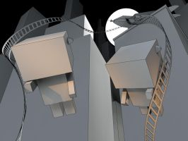 Swat Kats WIP - paper folding concept by rocneasta