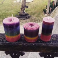 finished candles by SoraEatAKeex