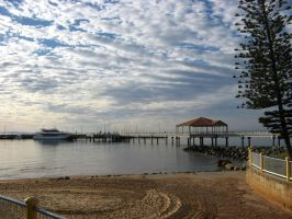 Sun rise on Redcliffe jetty by fa-stock