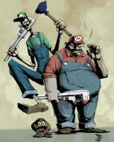 Super Mario Brothers by Bregolas