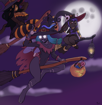 Partly Cloudy with a Chance of Witches by NanoDarkk