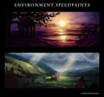 Environment Speedpaints September 2015 by Xeikkeiu