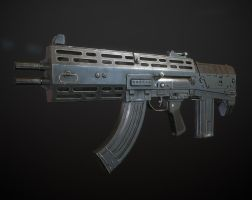 Double-Barreled Assault Rifle by Kutejnikov