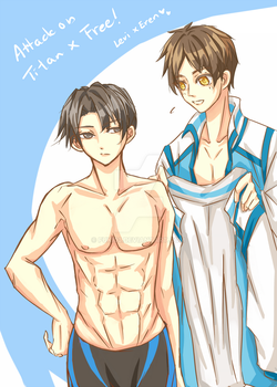 Swimming Club Levi and Eren ^q^ by Fuki03