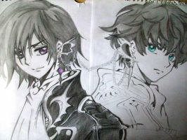 Lelouch and Suzaku by XOtakumiX