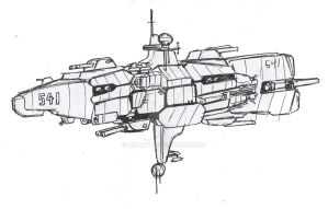 Space masters: Allies ship type 1 by Jepray