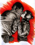 Han and Leia Kiss by JediSeeker1