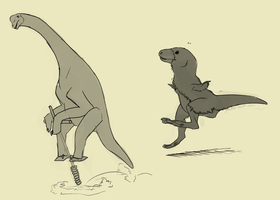 Pogosaurs by umbbe