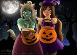 Mei y Mar Halloween by Adelfa3