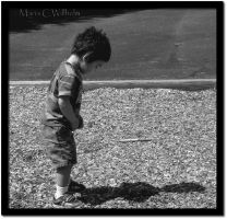 Finding His Shadow BW by MariaWillhelm