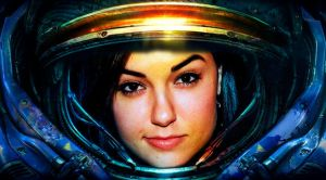 Sasha Grey - space marine by gmarv1n