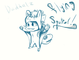 Doodle! Flying squirrel! by Shane-Twilight