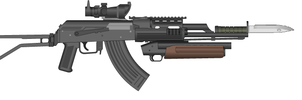 My Post-Apocalyptic AK47 by MegaBLYSTONE