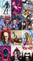 X-Men Archives sketch cards 3 by Leeahd