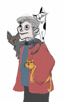 Cat lady by lucy-fur