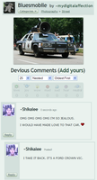 Bluesmobile Love Comment by Shikalee