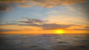 Sunset On The Ocean by cldennis12