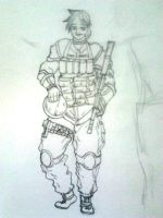 Female Soldier WIP by Dreballin3x