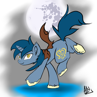 MLP: Leo Heart Under the Glorious Moon by x6tr2ni