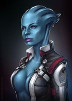 My Asari Girl :) by tsabszy