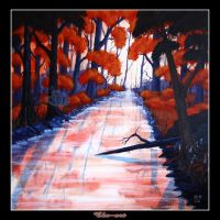 Canal Beeches by Clu-art