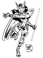 Huntress COMMISSION by LudHughes