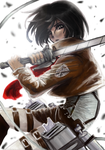 Mikasa Ackerman by juliet-the-ninja
