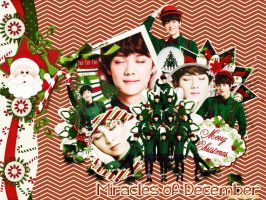 [Wallpaper] Miracles of December - Merry X-mas by jangkarin