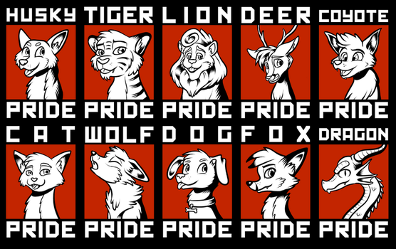 Animal Pride Badges by SouthParkTaoist