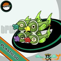 089. Plasticod by bromos-pokemon