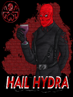Red Skull HYDRA T-shirt by I3-byUsagi