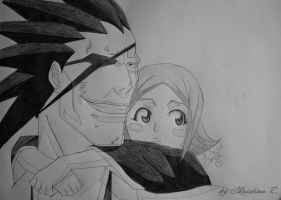 Bleach - Kenpachi and Yachiru by Monstacookie