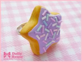 Sweet Cookie Star Ring by Dolly House by SweetDollyHouse