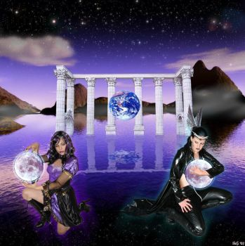Rivalling moon goddesses by Hera-of-Stockholm