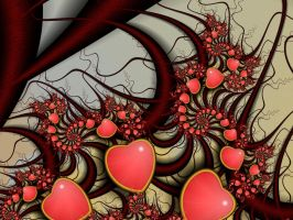 Hearts of August 3 by Kattvinge