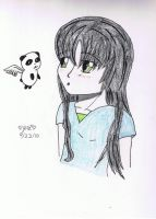 Araminta and a Flying Panda by aramintaXkazemaru
