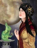 Chang Er, Moon Goddess by jmanggala