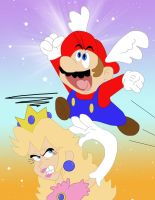 Mario and Peach by Cookie-Lovey
