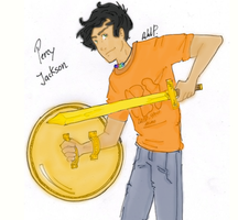 Percy Jackson by Painter-Gal77