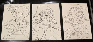 Marvel Villains Sketch cards by JPepArt