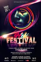 Holi Festival Flyer Template -Festival of Colors- by retinathemes