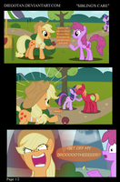 Applejack, Berry Punch in ''Sibling's Care'' by DiegoTan