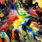 Abstract Art Fluid Painting 80 by Mark-Chadwick