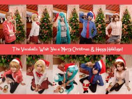 Vocaloid Christmas Greetings by maki-chama