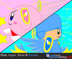 Holy Angels- Kirby and Pocoyo by murumokirby360