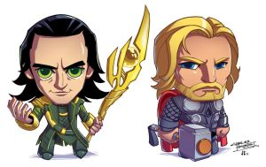 Loki and Thor LBH colors by khaamar